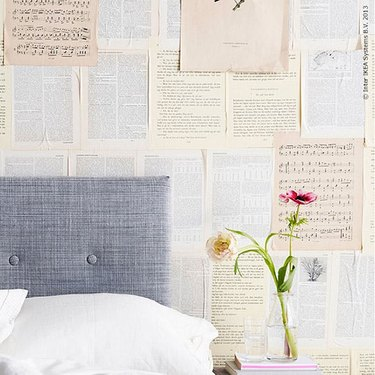 book pages as wallpaper