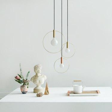 cluster of pendant lights