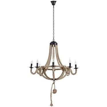 hemp rope chandelier