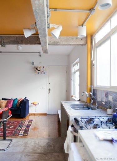 concrete beam ceiling