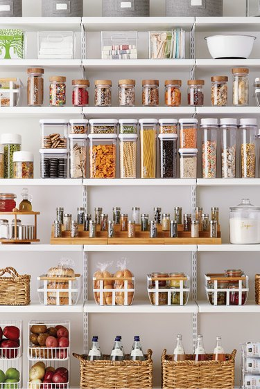 How to Organize a Pantry, pantry with containers