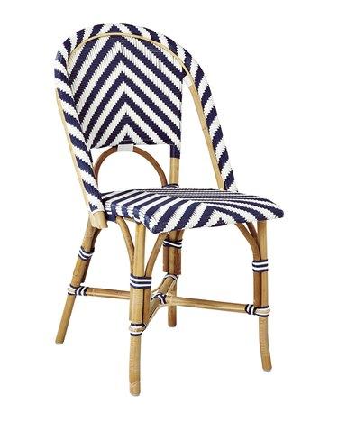 Serena & Lily rattan bistro chair.