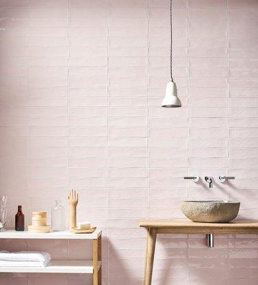 pink wall tile