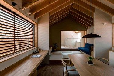 Japanese minimalist dining room