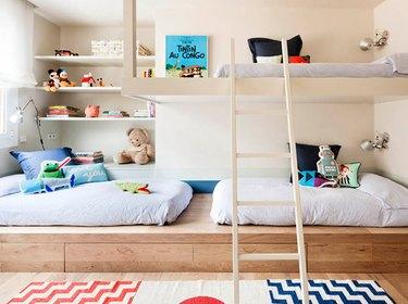 bunk beds in kids room