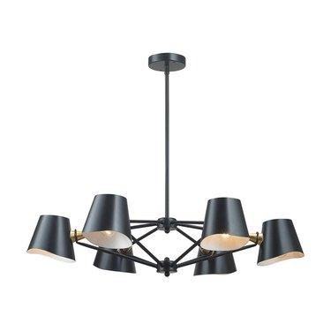 matte black chandelier
