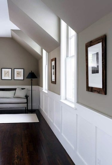 Taupe-colored hallway