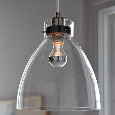 glass shade pendant