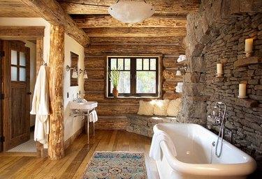 rustic bathroom idea
