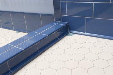blueberry cove base tile white hexagonal floor tile