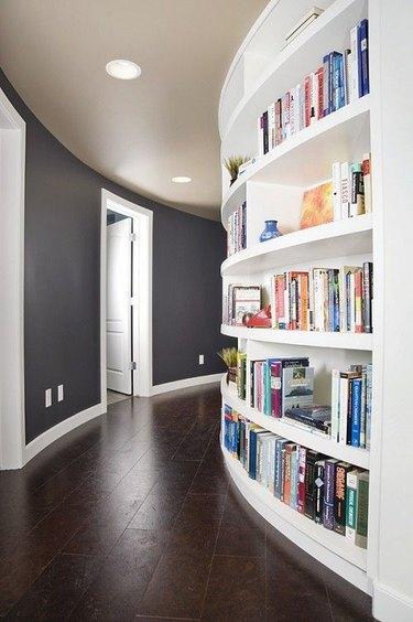 Recessed bookshelf