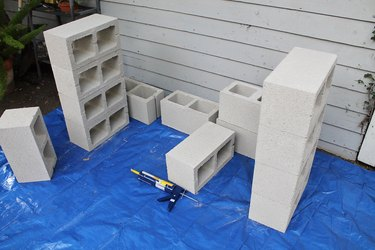 Build two identical block structures.