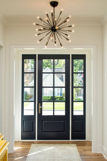 Black entryway door
