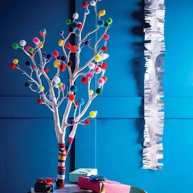 christmas tree alternative pop poms