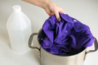 Wash clothes in vinegar to prevent fading