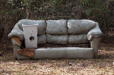 old sofa left outside