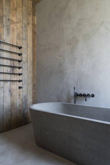 minimal gray bathroom
