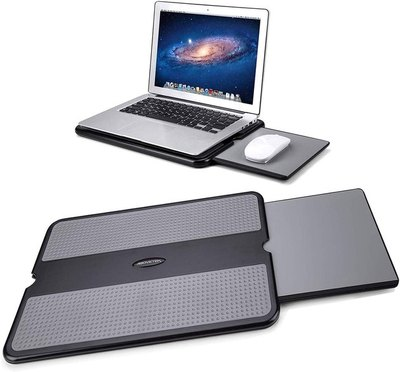 AboveTEK Portable Laptop Lap Desk with Retractable Mouse Pad Tray