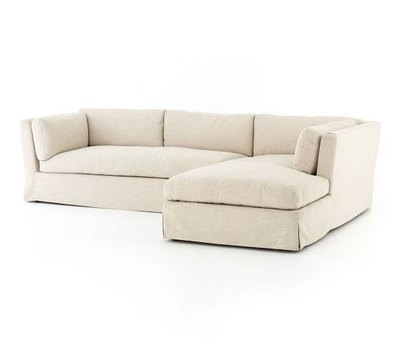 Dawn Slipcovered Sofa with Chaise Sectional