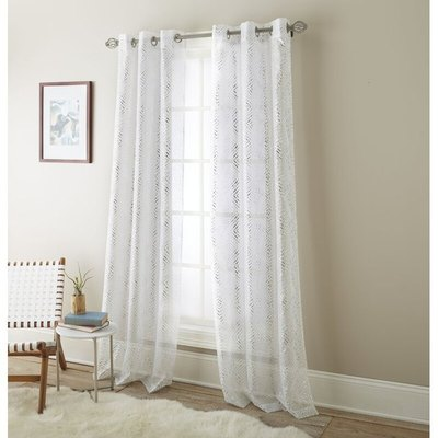 Eves Solid Sheer Grommet Curtain Panels