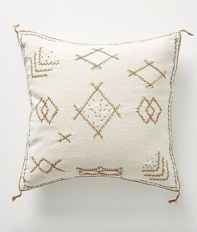 Joanna Gaines for Anthropologie Embroidered Sadie Pillow