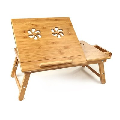 Mind Reader Bamboo Cooling Laptop Tray