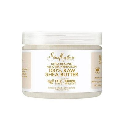 SheaMoisture 100% Raw Shea Butter dry skin cream replenishes hair and skin with vitamins A & D and essential fatty acids.
