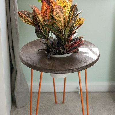 DIY Modern Planter/Side Table Tutorial