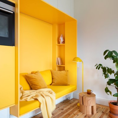 Canary Yellow Is Shockingly Cool in This Century-Old Swedish Apartment