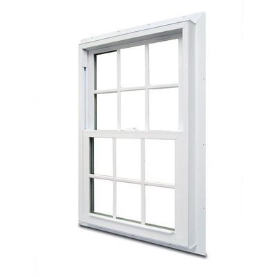 Double-hung window.
