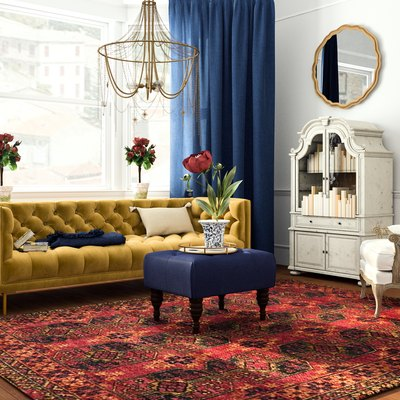 living room with french-inspired decor