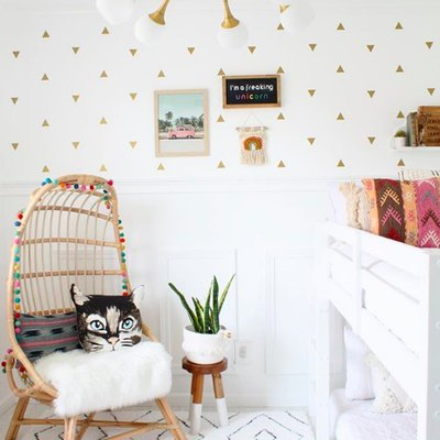 Whimsy Meets Sophistication in This Charming Child's Room