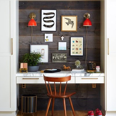 This Is How to Transform a Wall Recess Into a Killer Home Office