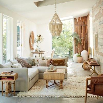 boho-chic living room