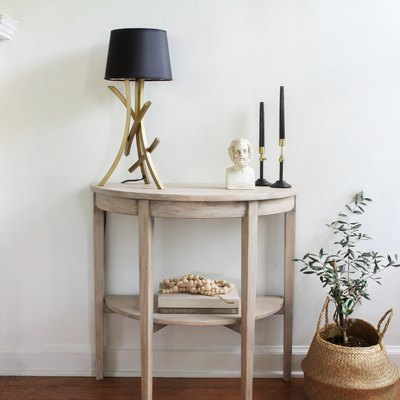 IKEA hack lime waxed console table