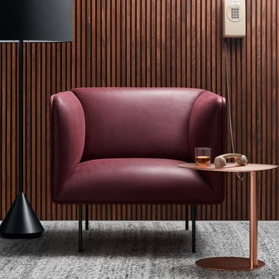 Blu Dot Oxblood Dandy Leather Lounge Chair