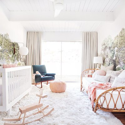 nursery with tree wall decals