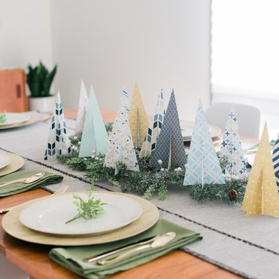 This DIY Paper Christmas Tree Centerpiece is perfect for holiday entertaining.