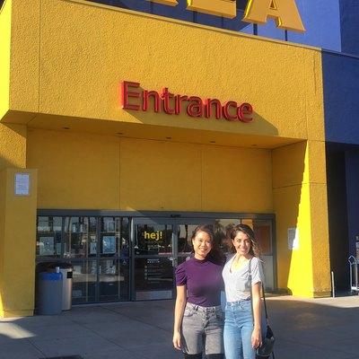 Garineh and Lacey at Ikea