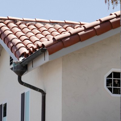 Clean gutter and downspout