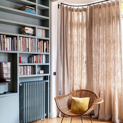 A Family-Friendly Parisian Apartment Balances Color With Class