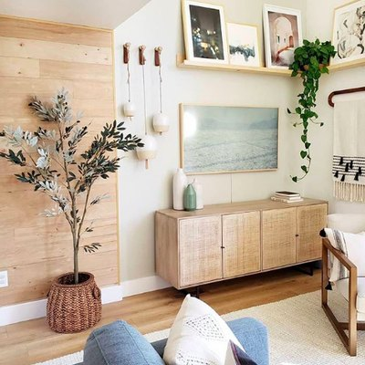 Organic Accents Lend Warmth to a Cozy and Uplifting Living Room