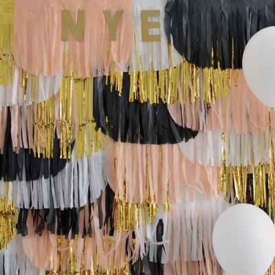 DIY Photo Backdrop for Your New Year's Eve Party