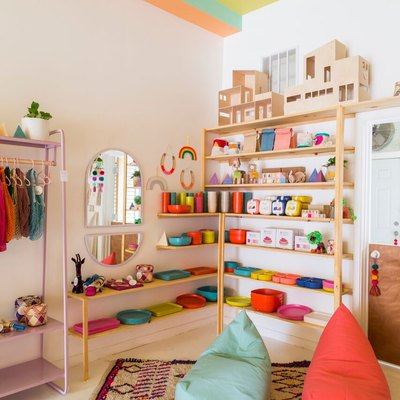 LGBTQ-inclusive children's shop A colorful corner at Little Peach Fuzz