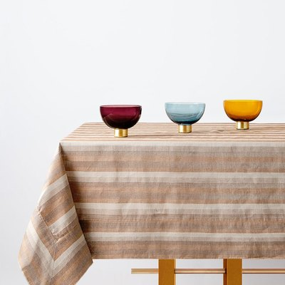 Zara Home herringbone striped tablecloth