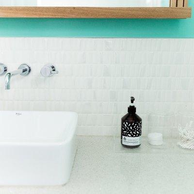 bathroom backsplash tile with sink