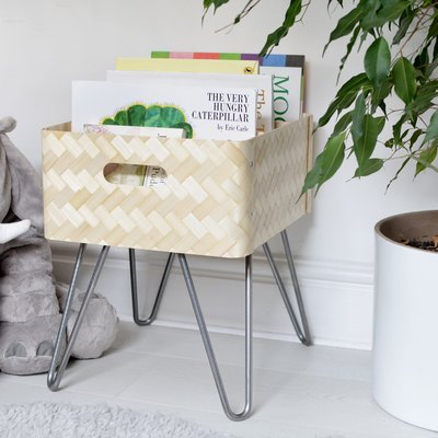 How to Hack an IKEA Bamboo Storage Box Into a Cute Book Bin
