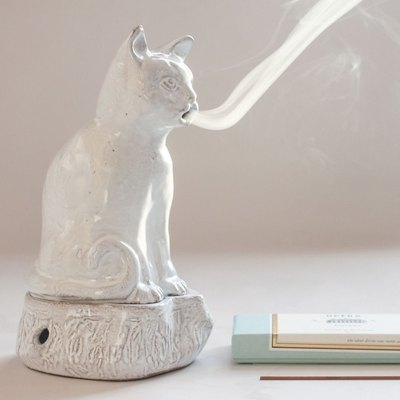 Astier de Villatte Cat Incense Burner, $320