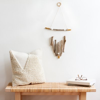 DIY driftwood wall hanging