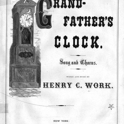 Grandfather's clock sheet music